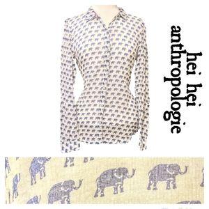 ANTHROPOLOGIE HEI HEI elephant top (med)
